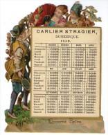 "CALENDRIER GAUFFRE 1889  "" CARLIER STRAGIER DUNKERQUE """