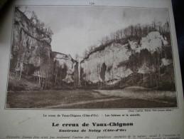 - Article De Presse - Régionalisme- Le Creux De Vaux Chignon - Nolay - Côte D'or -1933 - 1 Pages - - Documentos Históricos
