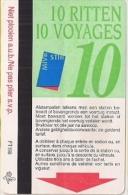 STIB - MIVB - CARTE  DE 10 VOYAGES - M�tro et Bus (113788257)