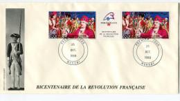 COMORES PA 285A  THEME REVOLUTION FRANCAISE  ENVELOPPE 1er JOUR OBLITERATION MORONI 25 OCT 1989 - Franz. Revolution