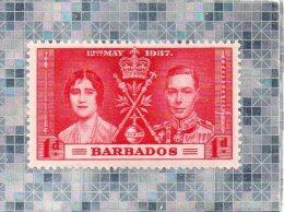 BARBADOS  --  INSULAIRE DES ANTILLES  --   12 MAI 1937  --  **  1 D. **  --   NEUF - West Indies