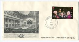 COMORES PA 286 THEME REVOLUTION FRANCAISE  ENVELOPPE 1er JOUR OBLITERATION MORONI 25 OCT 89 - Franz. Revolution