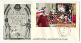 COMORES BF 57  THEME REVOLUTION FRANCAISE  ENVELOPPE 1er JOUR OBLITERATION MORONI 25 OCT 89 - Franz. Revolution