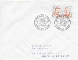 TIMBRE N° 1213 - 1ER JOUR  -  1959  -   PILOTES D'ESSAIS GOUGEOPN & ROZANOFF  / LE BOURGET -  SEUL SUR LETTRE - FDC