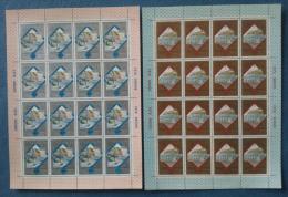 Russia 1979 Unif. 4635/36 Minif. Da 16 **/MNH VF - Blocs & Feuillets