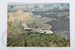 Airline Transport Postcard - Scenic Airlines, INC - Plane Flying Over The Grand Canyon - Dirigibili