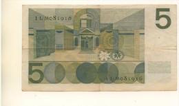 PAYS-BAS - Billet De 5 Gulden De 1966 Ayant Circulé - [2] 1815-… : Koninkrijk Der Verenigde Nederlanden