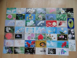 LOT OF 46 CARDS FLOWERS - Japan