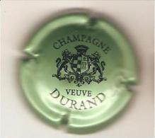 CAPSULE MUSELET CHAMPAGNE  VEUVE DURAND (NOIR SUR VERT N°7) - Durand (Veuve)