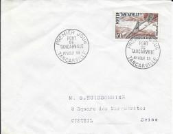 TIMBRE N° 1215  - 1ER JOUR   1959  -   PONT DE TANCARVILLE -  SEUL SUR LETTRE - 1950-1959