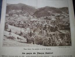 Article De Presse - Régionalisme- Theys - Isère - Le Châtel - Col Du Merdaret - Massif De Belledonne - 1933 - 4 Pages - Historische Dokumente