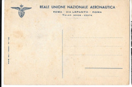 AERONAUTICA TEMATICA AVIAZIONE REALE UNIONE NAZIONALE AERONAUTICA INTERO POSTALE - Unclassified