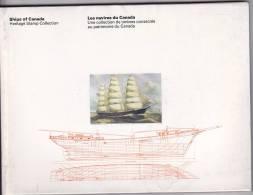 Bateaux Du Canada / Ships  Of Canada Canada Post Stamp Sets In Book   Séries En Livret Explicatif - Bateaux