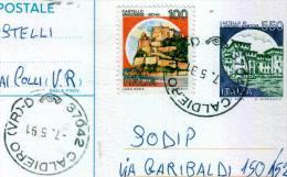 CALDIERO - VR  -  Anno 1991 - Timbri