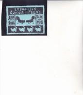VIGNETTE -  LYON 1914- EXPOSITION AVICOLE ET FELINE  - - Commemorative Labels