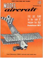 MODEL AIRCRAFT SEPTEMBER 1962 - Groot-Britannië