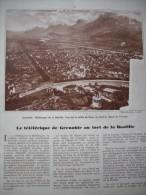 Article De Presse - Régionalisme - Grenoble - Téléphérique De La Bastille - La Gare  - 1935 - 2 Pages - Documenti Storici