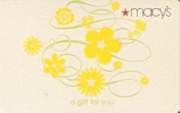 TARJETA DE REGALO DE MACY´S DE FLORES-FLOWER (GIFT CARD-CADEAU) UN REGALO PARA TI - Non Classés