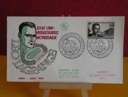 FDC - Jeux Universitaires Mondiaux, Léo Lagrange - Antony  31.8.1957 - 1er Jour, Coté 5.50 € - 1950-1959