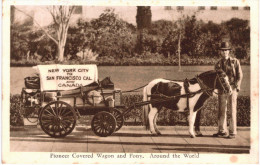 CHEVAL ... HORSE ... PIONEER COVERED WAGON AND PONY ... PONEY - Chevaux
