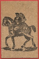 CARTOLINA NV ITALIA - SARDEGNA - Coppia A Cavallo - Cartolina In Sughero - 9 X 14 - Altri