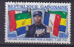 Gabon 1962 Mi. 180     80 Fr Hauptmann Charles N'Tchoréré, French Officer Murdered During German Occupation WWII - Gabun (1960-...)