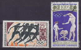 Gabon 1964 Mi. 203, 205     Olympische Sommerspiele, Tokio Olympic Games - Gabun (1960-...)