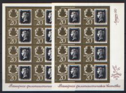 Russia 1990 Unif. 5744/45 Minif. Da 8 **/MNH VF - Blocchi & Fogli