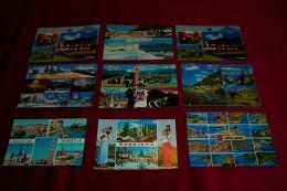 LOT DE 9 CARTES DE  POSTALES  MULTI VUES - Ansichtskarten