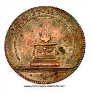 F. 9876. Bourgogne. Les États. G. De Gadagne D'Hostun, élu De La Noblesse 1695. Cuivre 31 Mm. 10.5 Gr. - Monarquía / Nobleza