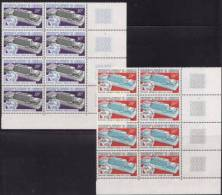 CAMEROUN 1970 - N° 483 Et 484 - 2 Blocs De 8 Timbres - Coin De Feuille (U.P.U) Neufs** - Kamerun (1960-...)