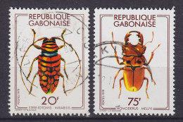 Gabon 1978 Mi. 662, 664   Käfer Inseckte Insects - Gabun (1960-...)