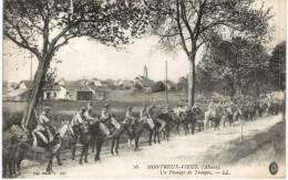 CHEVAL ... HORSE ... MONTREUX VIEUX ... PASSAGE DE TROUPES ... - Pferde