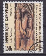 Gabon 1979 Mi. 695      150 Fr Ostern Easter Holzschnitzereien Kirche Saint-Michel I Libreville - Gabun (1960-...)