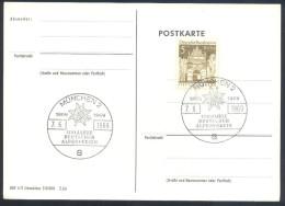 Germany Deutschland Flora Rose Flowers 1969 Card: 100 Jahre Deutscher Alpenverein; Edelweiss Cancellation - Pflanzen Und Botanik