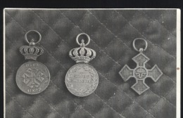 WWI-King Ferdinand-Romania-medals-decorations-original Photo-12.5x8cm-unused,perfect Shape - Monnaies (représentations)