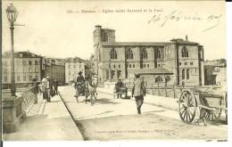 CPA  ROMANS SUR ISERE, église St Barnard Et Le Pont  11134 - Romans Sur Isere