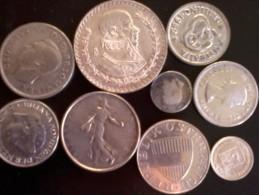 Monete D' Argento  -  Lotto Di N° 9 Monete Mondiali . - Monete