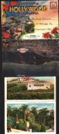 Carte à Système - 9 Vues Accordéon Recto-Verso - HOLLYWOOD CALIFORNIA - 1935 - Los Angeles