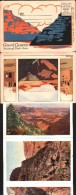 Carte à Système - 10 Vues Accordéon Recto-Verso - GRAND CANYON, National Park, Ariz. - Etats-Unis