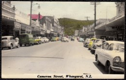 OLD HANDCOLOURED CPA - NEW ZEALAND - WHANGAREI - CAMERON STREET WITH OLDTIMERS - Nouvelle-Zélande