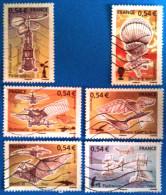 France 2006 : Aviation, Les Machines Volantes N° 3978 à 3983 Oblitérés - France