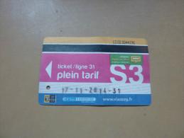 Ticket de Bus r�seau Penn-ar-Bed (plein tarif / ligne 31 S3) 2014