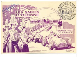 FRANCE - 1 Carte Grand Prix De France 1952 Les Sables D'olonne. - Automobile