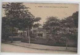 INDOCHINE VIETNAM TONKIN HANOI LA STATUE DE LA LIBERTE SUR LA PLACE NEYRET - Viêt-Nam