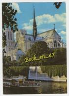 {55240} 75 Paris , Notre Dame Et La Seine ; Bateau Mouche - Notre Dame De Paris