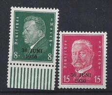 "Germany 1930  ""30 JUNI 1930""  (**) MNH  Mi.444-445 - Germany"