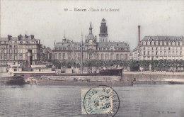 Al - Cpa ROUEN - Quais De La Bourse (toilée) - Rouen