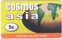 GREECE - Asia, Cosmos Prepaid Card 5 Euro, Used - Griechenland