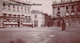 PHOTO 1910 14 X 8 NANCY PLACE STANISLAS GRAND HOTEL DEVANTURE 2472 - Lieux